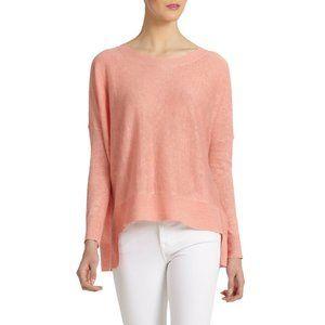 Eileen Fisher High-Low Tencel Wool Blend Sweater L